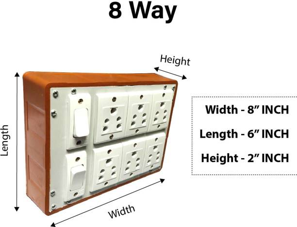 Everun electrical 2+6 6 A Four Way Electrical Switch
