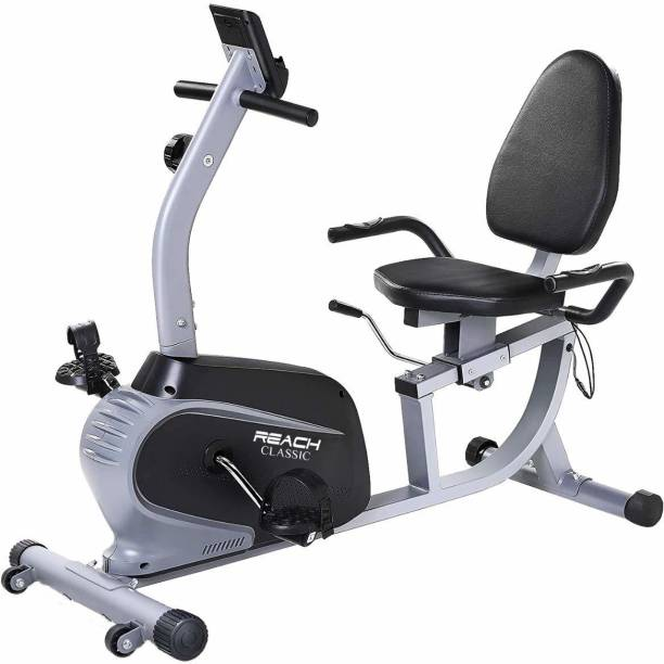 Reach Classic Recumbent Bike Exercise Cycle with Back Support Seat For Home Gym Recumbent Stationary Exercise Bike