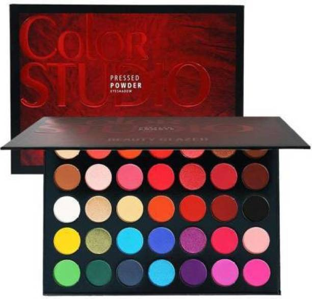 CAZO Beauty Glazed Makeup Eyeshadow Palette 35 Colors Eye Shadow Powder Make Up Waterproof Cosmetics 240 g (Multicolor) 250 g