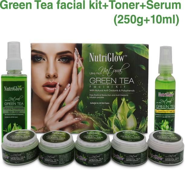 NutriGlow Set of 1 Green Tea Facial Kit + 1 Green Tea Toner + 1 Serum