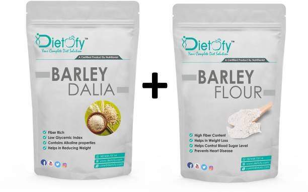 DIETOFY Barley Flour + Barley Dalia( 1 Kg Each)