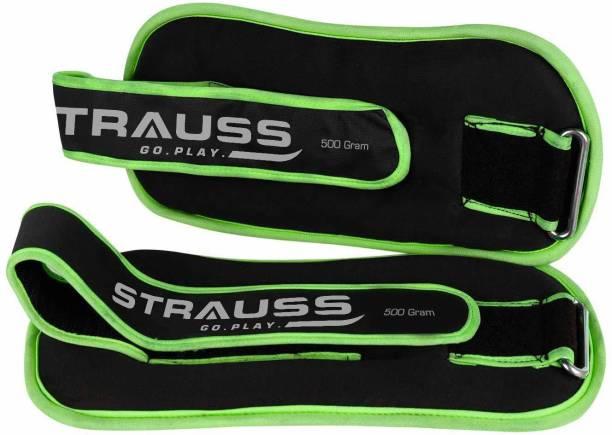 Strauss Round Shape (0.5kg X 2) Green, Black Ankle & Wrist Weight