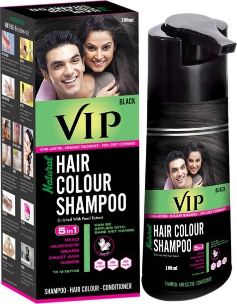 VIP Hair Colour Shampoo 5 in 1 , Black
