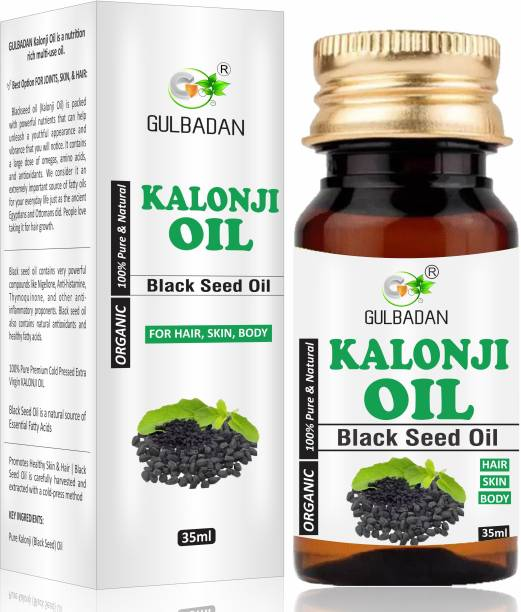 GULBADAN Premium Cold Pressed Kalonji Black Seed Oil for Healthy Hairs and Skin Hair Oil