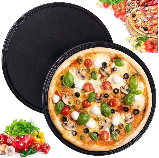 TruVeli Non-Stick Pizza Pan for Oven, Microwave Convection OTG Large Pizza Tray