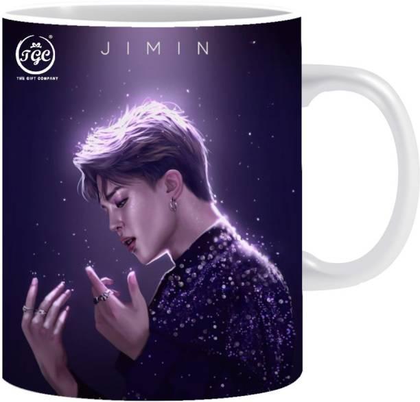 TGC THE GIFT COMPANY Bts boys jimin |white mug | gift for mug | coffee and tea mug | creative design printed mug Ceramic Coffee Mug