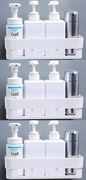 HOUSE OF VIPA Multipurpose Plastic Bathroom Kitchen Office Organizer Rack Bathroom Kitchen Caddy Soap Holder(3Pcs Set) Plastic Wall Shelf Plastic Wall Shelf
