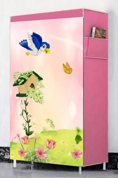 Flipkart Perfect Homes Studio PINK TREE HOUSE PRINTED SHOE CABINET6 LAYER ORGANISER Metal Shoe Stand