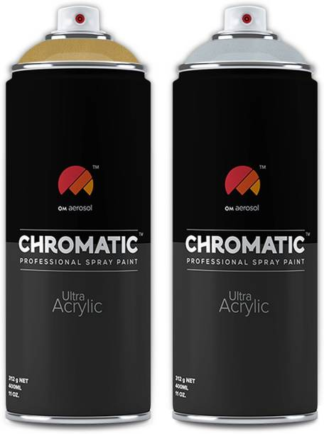 Chromatic Gold Metalic, Silver Metalic Spray Paint 400 ml