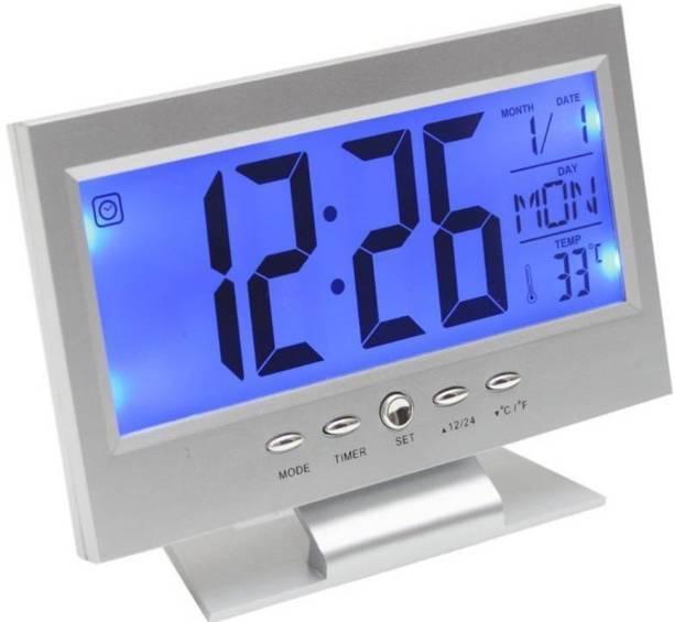 Divinext Digital White Clock