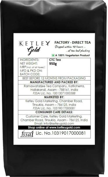 Ketley Gold Factory Direct Assam Tea - Shipped within 48 Hours of Plucking | 950g Tea Pouch