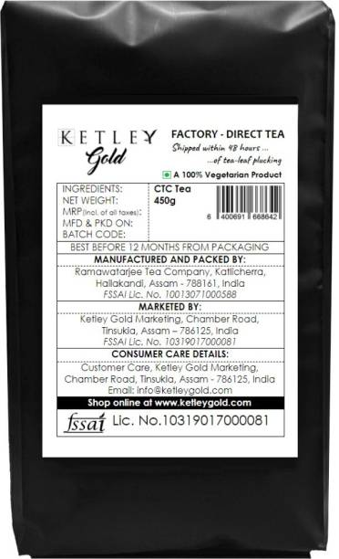 Ketley Gold Factory Direct Assam Tea - Shipped within 48 Hours of Plucking | 450g Tea Pouch