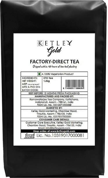 Ketley Gold Factory Direct Assam Tea - Shipped within 48 Hours of Plucking | 1500g Tea Pouch