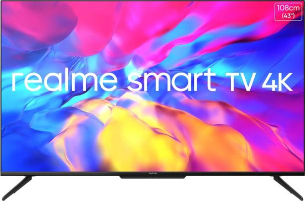 realme 108 cm (43 inch) Ultra HD (4K) LED Smart Android TV with Handsfree Voice Search and Dolby Vision & Atmos
