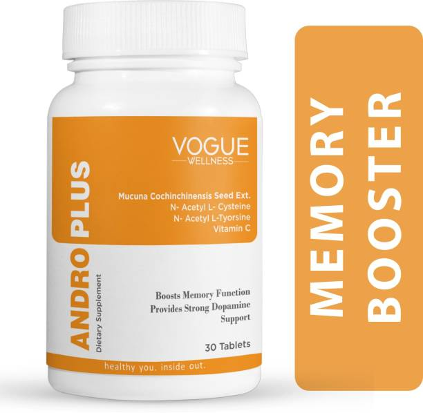 Vogue Wellness ANDRO PLUS Mucuna dopamine Brain Booster Supplement for Memory and Focus