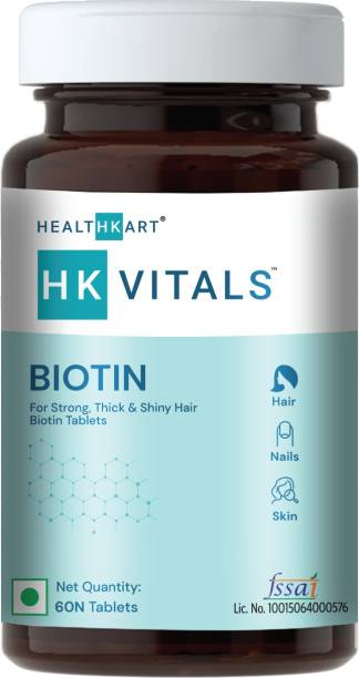 HEALTHKART Biotin Maximum Strength for Hair Skin & Nails-10000 mcg for, 60 tablet(s)