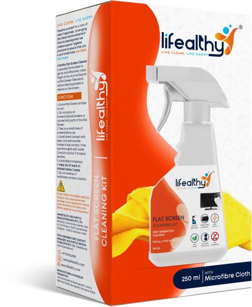 Lifealthy Universal Flat Screen Cleaning Kit Combo with Extra Large Micro Fibre Cloth for HDTV, 4K, LCD, LED, Plasma and OLED TV for Computers