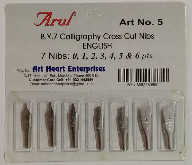 arul Art No - 05. Calligraphy Cross Cut English Nib.