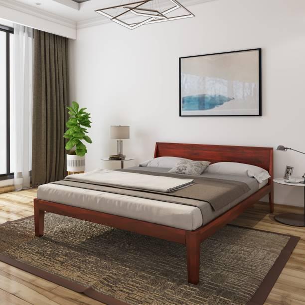 Flipkart Perfect Homes Solid Wood Queen Bed