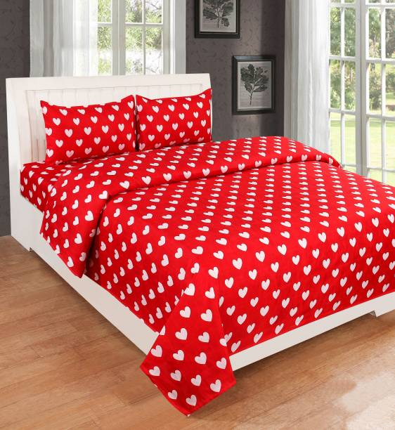 HOME LIVING 140 TC Cotton Double Printed Bedsheet