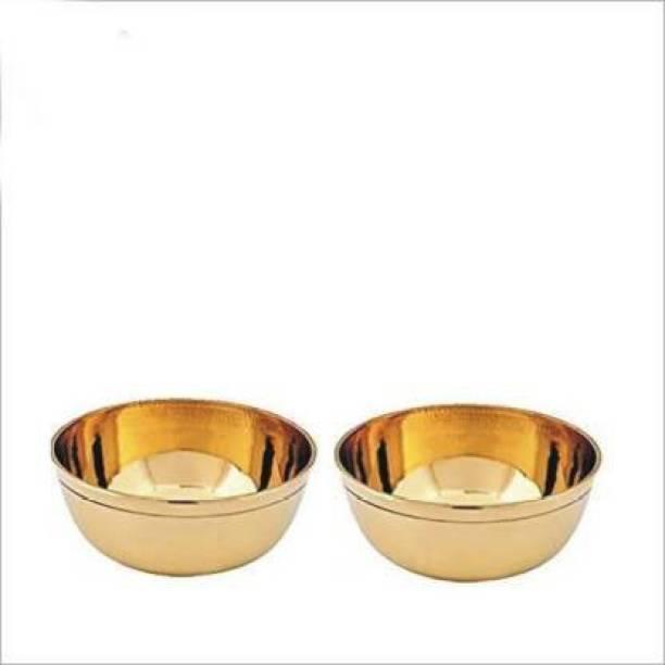 Rolimoli 100% Pure Brass Bowl Hand Made Round Brass Dessert Bowl Brass Dessert Bowl