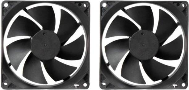 CyberSupreme Pack of 2 DC 12V Cooling Fan for DIY Incubator Cabinet & PC Case 3 inch Cooling Fan for PC Case CPU Cooler