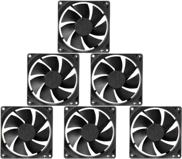 CyberSupreme Pack of 6 DC 12V Cooling Fan for DIY Incubator Cabinet & PC Case 3 inch Cooling Fan for PC Case CPU Cooler