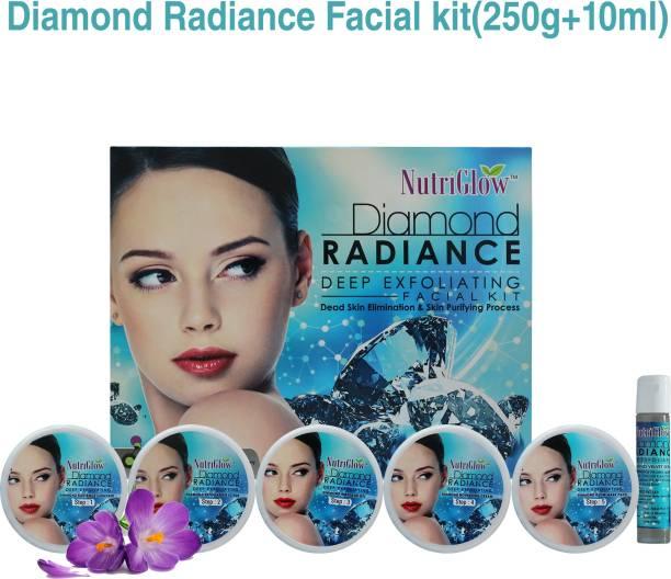 NutriGlow Diamond Radiance Deep Exfoliating Facial Kit/ Dead Skin Elimination/ Acne Free Skin