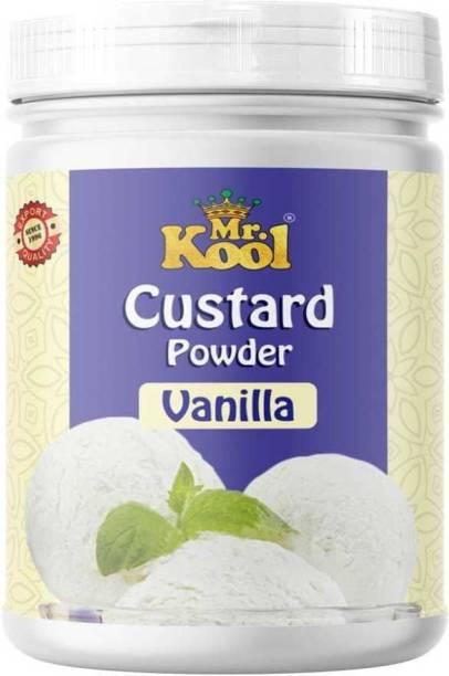 Mr.Kool Vanilla Instant Custard Powder | Premium Quality |Pure Veg | 400g Jar | 400 g
