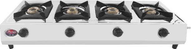 Suryaflame 4B Capri BB NA (ISI MARKED CE MARKED) and Doorstep Service Stainless Steel Manual Gas Stove