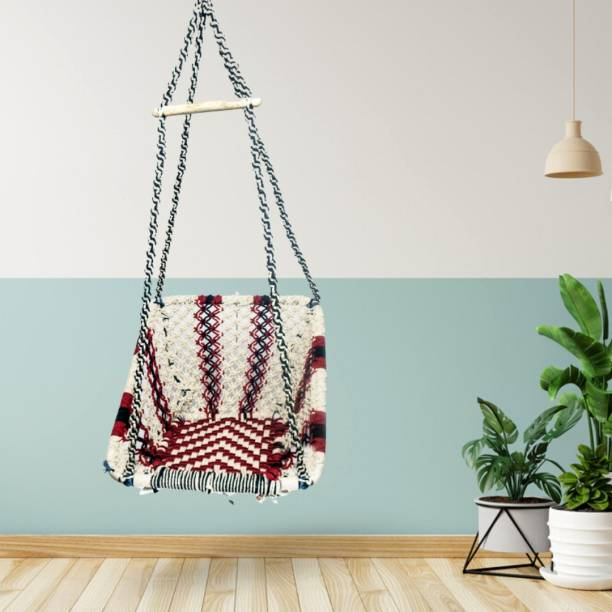 Curio Centre Square Modern Hanging Swing Chair Cotton Large Swing