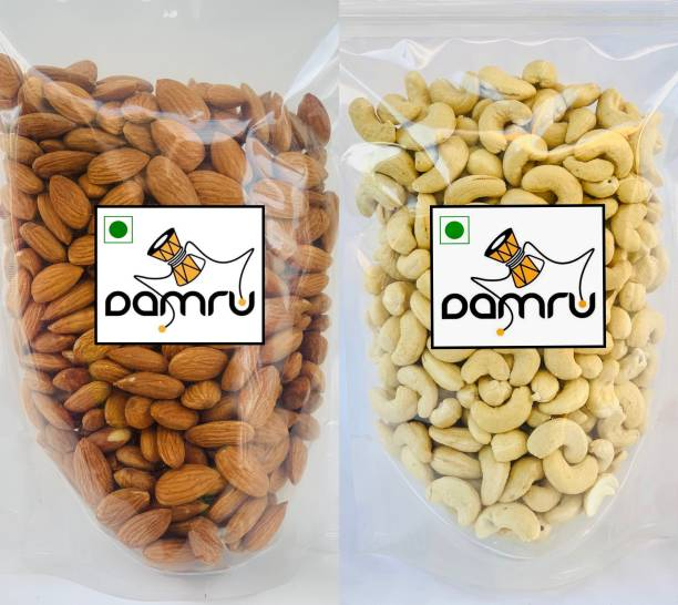 Damru Dry Fruit Combo [Cashews (250g) & Almonds (250g) ] (Premium Quality) Almonds