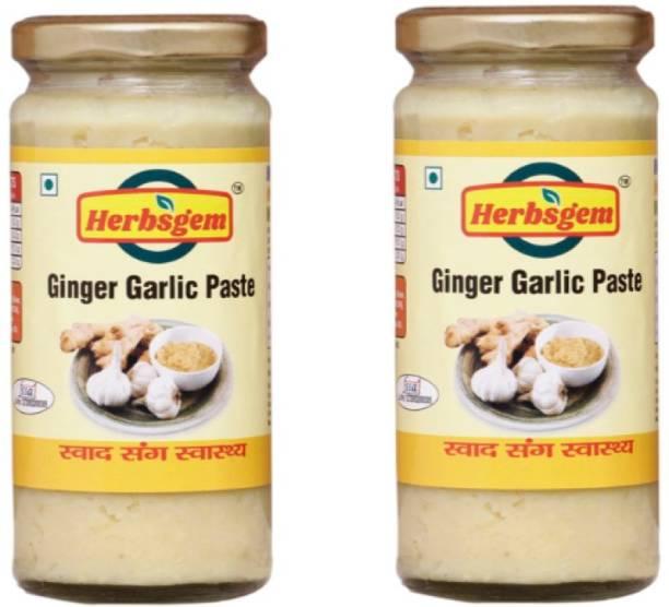 herbsgem Ginger Garlic Paste Combo 250g Each