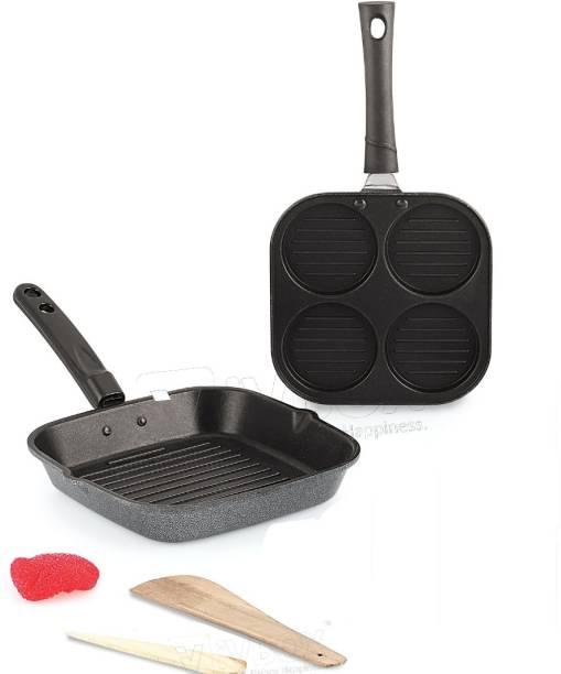 iVBOX ® Eco-BGU 25cm Non-Stick Grill pan and Uttapam Appam Maker pan Grill Pan 25 cm diameter