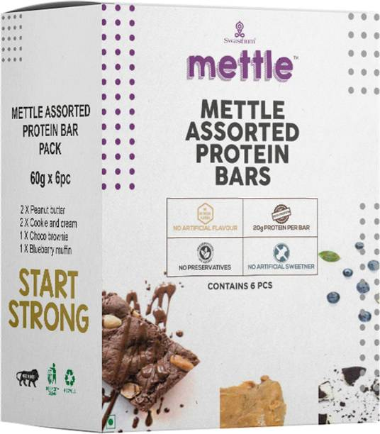 mettle Protein Bar Pack of 6 (60gm x 6) Energy Bars