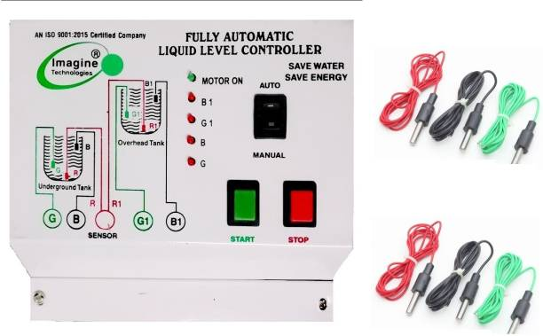 Imagine Technologies Fully Automatic Water level Controller And Indicator With Sensor 1 year Warranty Wired Sensor Security System
