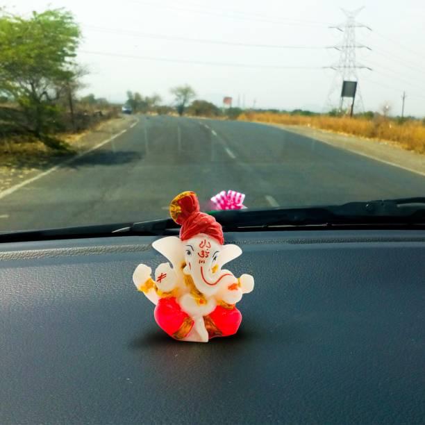 Rare Planet Car Dashboard Ganesha   Handpainted Lord Ganesha Idols for home decor God idols for car dashboard,Ganesha Idol for car dashboard, gifts And home,Ganesh idol in Spiritual & Festive Décor,table decoration items,home decor showpieces,Decorative items for room in Racks & Shelves handicraft items,Ganesh ji ka murti,Ganpati statues,Statue for car,Statue for home,Showpieces &Figurines,Showpiece gift sets,Showpiece for living room,Ganesha showpiece,Showpieces in home,Decorative Showpiece - 5.5cm x 6.2cm (Polyresin, Orange, White, Red, Pagdi Ganesha) Decorative Showpiece  -  5.5 cm
