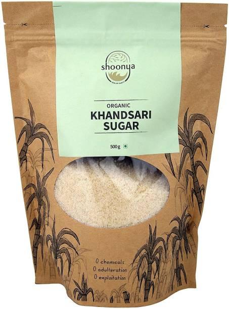 shoonya Organic Khandsari Sugar | Pure and Natural unrefined Raw Khandsari Sugar - 500 gm Sugar
