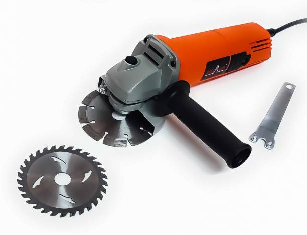 Hitman H-801 Heavy Duty Machine with 2 high quality 4-inch Marble Cutting Blade & Wood Cutting Blade for cutting grinding buffing application (850 Watt & 11000 RPM) Angle Grinder
