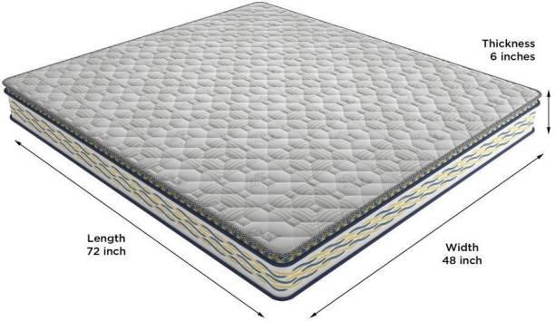 CENTUARY BACK SPORT Orthopaedic Coir 6 inch Double Memory Foam Mattress