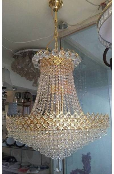 Shri Mahal Antiques LED Crystal Chandelier Light Chandelier Ceiling Lamp