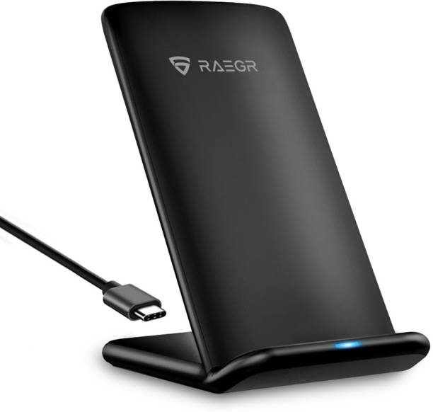 RAEGR RG10076 Arc 700 Qi-Certified Wireless Charging Stand 15W / 10W / 7.5W & 5W for All Qi-enabled Phones (No AC Adapter) - Black Charging Pad