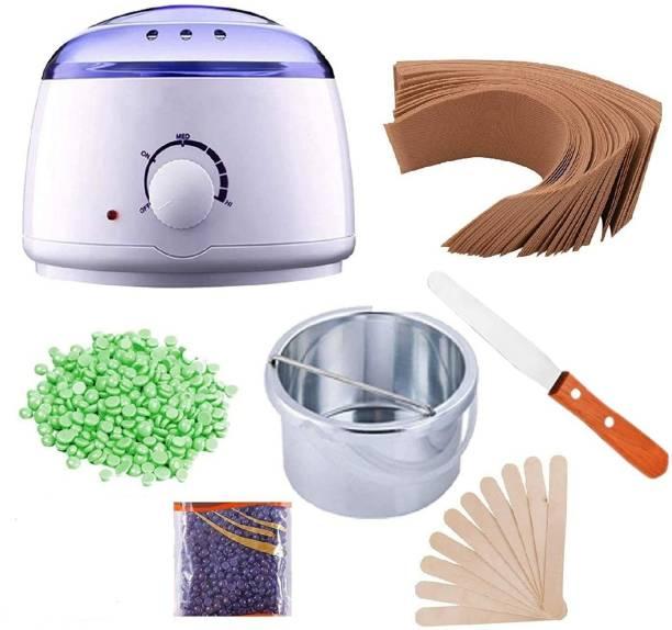 Veehaus Wax Heater,Hot Wax Heater Combo Waxing, Wax Heater For Waxing Automatic Wax Heaters, Wax Machine For Women, Waxing Kit with Wax Beans(100g) and Wax Strips For Waxing (40pcs) 1 Wax Knife