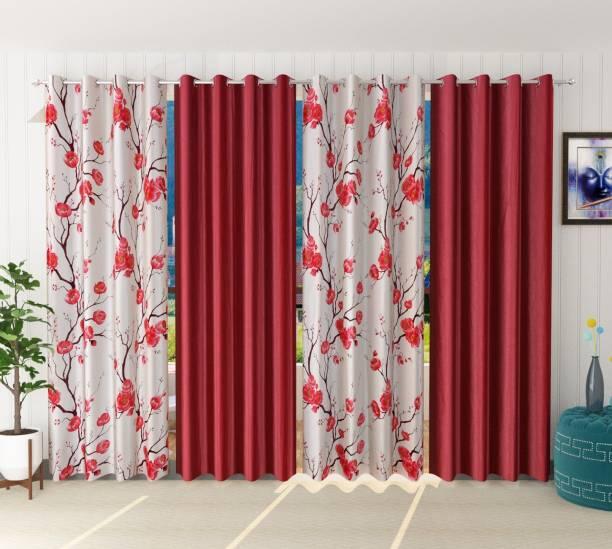 kiara Creations 214 cm (7 ft) Polyester Door Curtain (Pack Of 4)