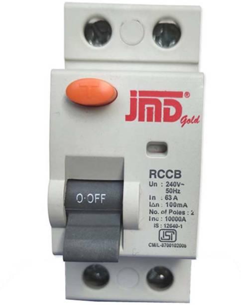 JMD GOLD RCCB Double Pole 63 AMP/100MA 240 V Residual Current Circuit Breaker ISI Mark JMD002 MCB
