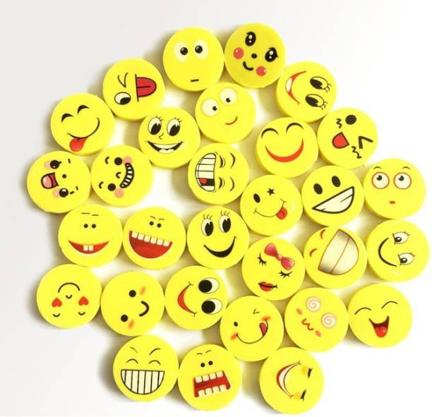 Giftshub 48 Lovely Happy Funny cute smiling face Erasers For kids .Best Birthday return gifts Non-Toxic Eraser