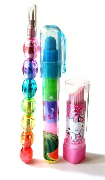 ShopTop Cartoon Lipstick Style Erasers Non-Toxic Eraser