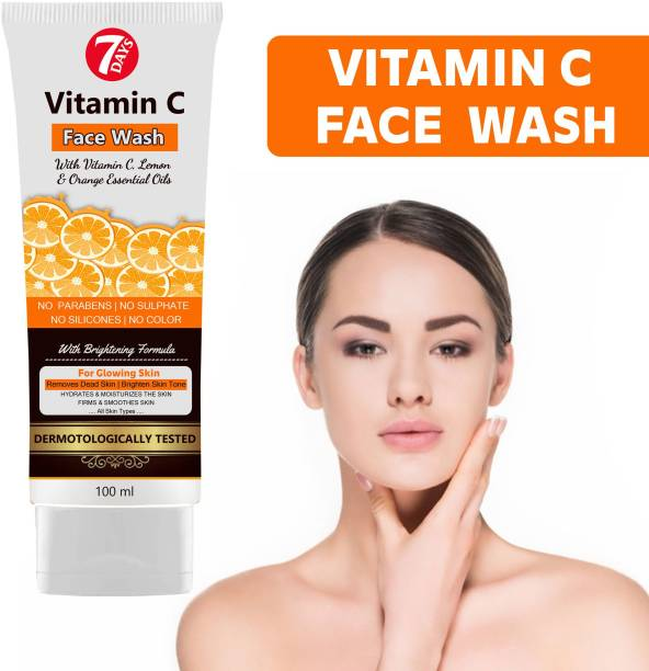 7 Days vitamin c face wash Vitamin C and Turmeric for Skin Illumination -  Remove Dead skin For Natural Glowing Beauty Pigmentation_Acne_Scars_Age Spots_Anti-Wrinkles And Skin Whitening Face Wash