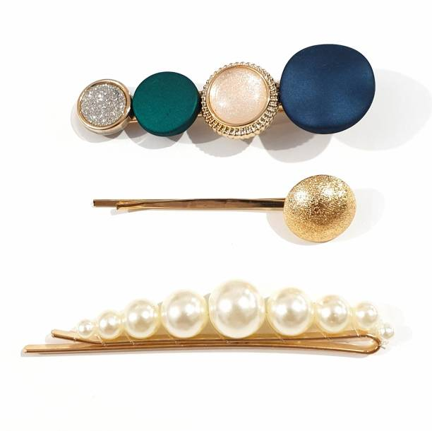 HOMEMATES Fancy Hair Clips for Women Fashion Korean Style Pearl Clips Gifts for Women Girls Pearl Hairpin Hair Barrettes Hair Accessories for Women Party Wedding (Pack of 3) Hair Clip