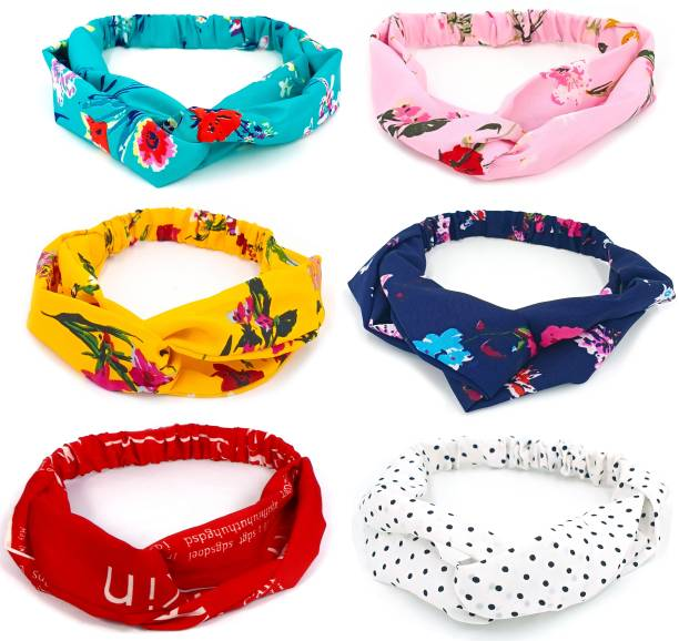 BEATOP Flower, magazine and dot Multi-color Twisted Elastic Head Wrap Hairband Accessories for girls and women Hair Band